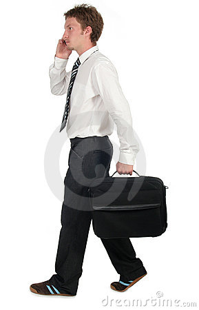 Free Businessman Walking Royalty Free Stock Photos - 983748