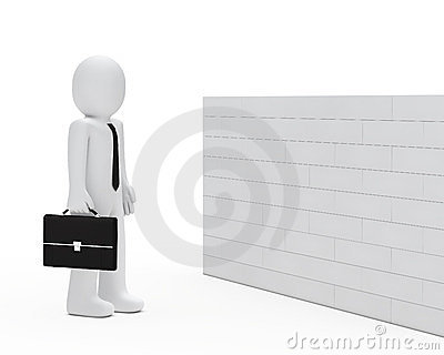 Businessman wall