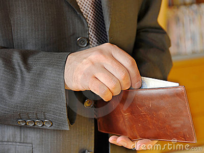 Businessman with wallet