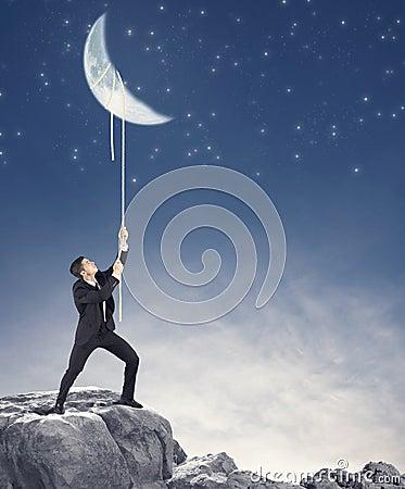 Businessman wants the moon