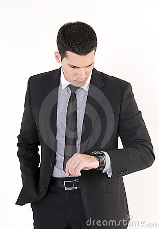 Businessman and watch
