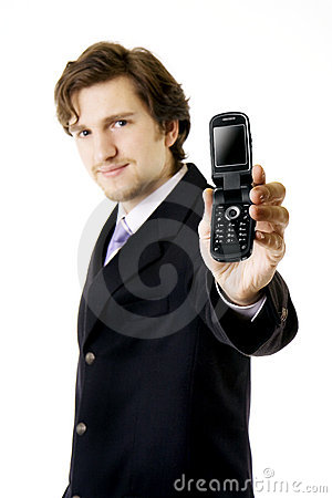 Businessman, which shows the phone