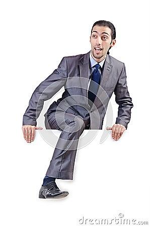 Businessman  on the white