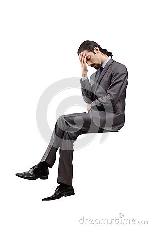 Businessman  on the white background