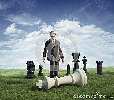 Businessman winner. chess