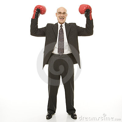 Free Businessman With Boxing Gloves Stock Photos - 2046973