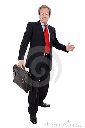 Free Businessman With Briefcase Stock Images - 6558184