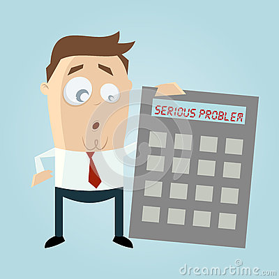 Free Businessman With Calculator In Trouble Stock Photos - 38978333