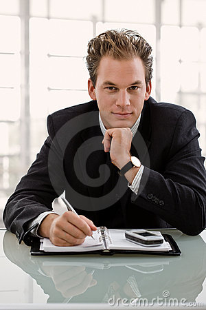 Free Businessman With Calendar Stock Photography - 7220552