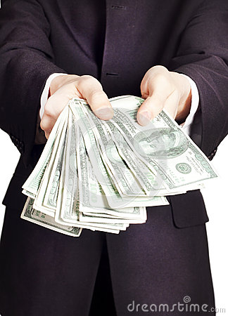 Free Businessman With Cash Stock Photography - 24785342