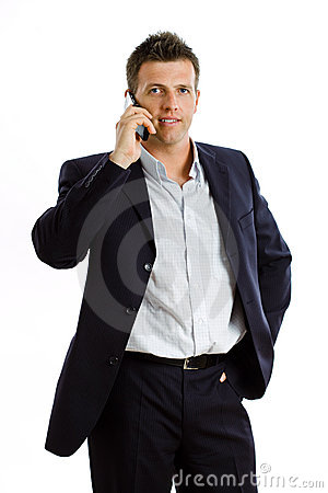 Free Businessman With Cellphone  Stock Photo - 6878490