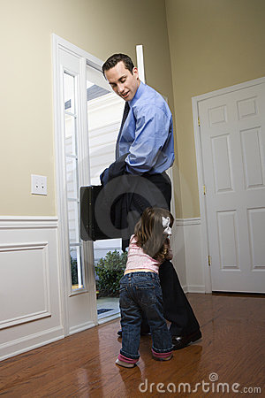 Free Businessman With Daughter. Royalty Free Stock Photography - 2284507