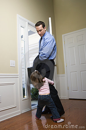 Free Businessman With Daughter. Royalty Free Stock Photos - 2284508