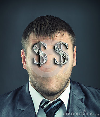 Free Businessman With Dollar Symbols Stock Images - 33586954