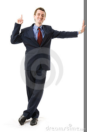 Free Businessman With Finger Up. Sign Attention Royalty Free Stock Images - 5281779