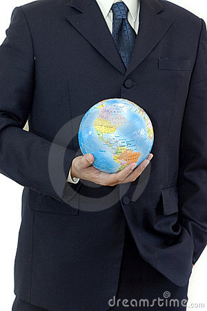 Free Businessman With Globe Stock Photography - 154872