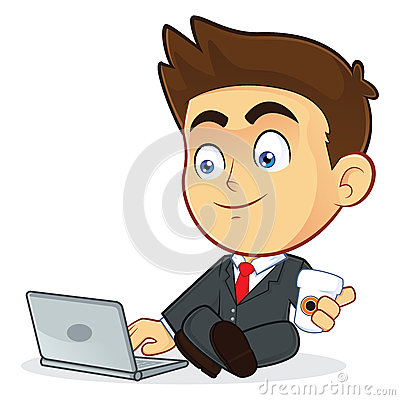 Free Businessman With His Laptop Royalty Free Stock Image - 35918276