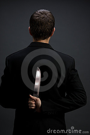 Free Businessman With Knife Royalty Free Stock Photo - 5346115