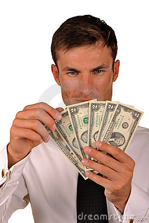 Free Businessman With Money Stock Image - 10892191