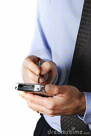 Free Businessman With Pda Royalty Free Stock Image - 4941846