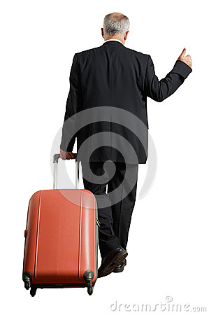 Free Businessman With Suitcase Is Hiking Stock Photo - 34231760