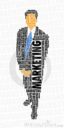 Businessman word cloud - marketing