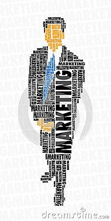 Businessman word cloud - marketing