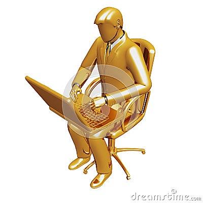 Businessman work on laptop