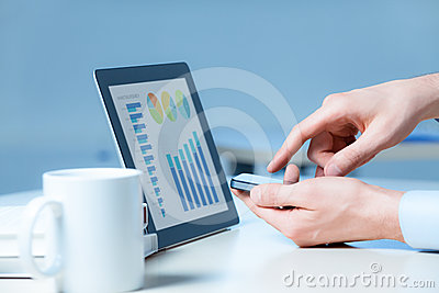Businessman Working With Modern Devices