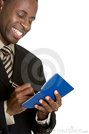 Businessman Writing Check