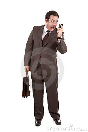 Free Businessman Yelling Loud On The Phone Stock Photos - 7053253