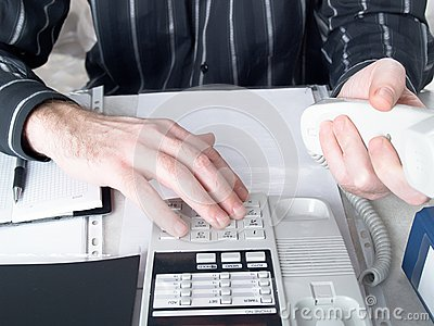 Businessmans hands