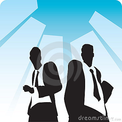 Businessmen on avenue