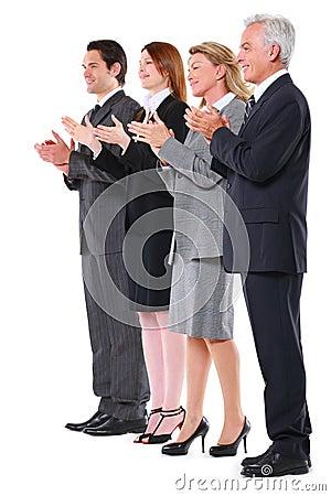 Businessmen and businesswoman