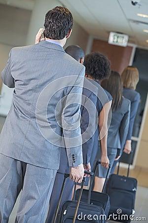 Businessmen Businesswomen Airport Traveling