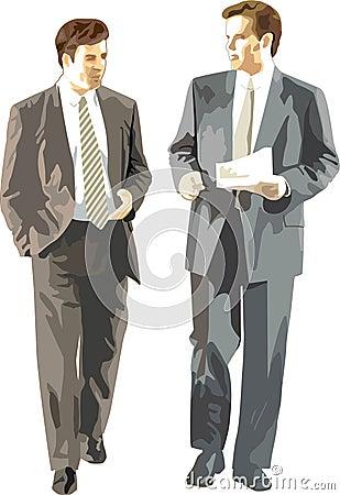 Businessmen discuss