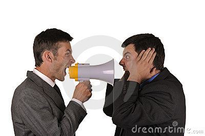 Businessmen Find Out Emotionally Attitudes Royalty Free Stock Images - Image: 10747059