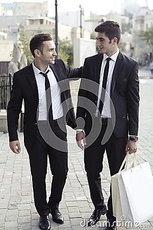 Businessmen friends