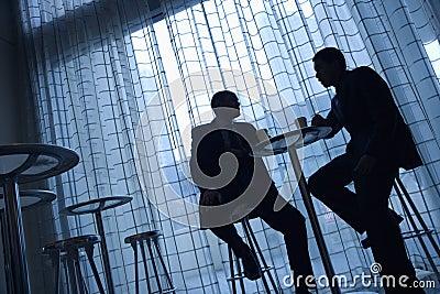 Businessmen Having Coffee
