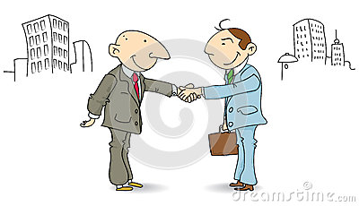 Businessmen make a deal
