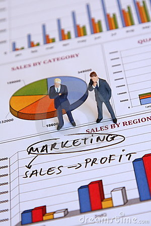 Businessmen and marketing