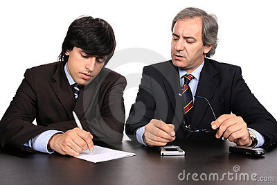 Businessmen on a meeting