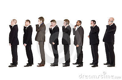 Businessmen on the phone