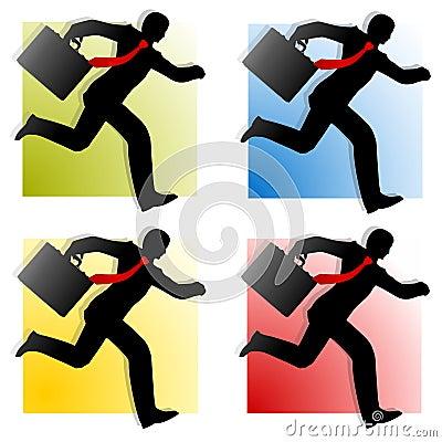 Businessmen Running Silhouettes 2