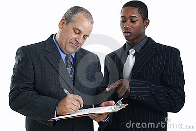 Businessmen Signing Contract