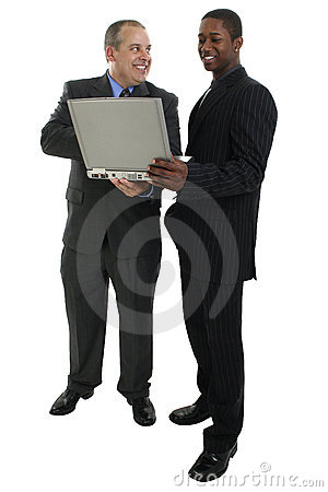 Free Businessmen Standing With Laptop Computer Royalty Free Stock Photo - 198755
