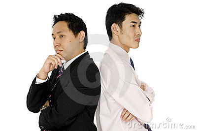 Businessmen Thinking