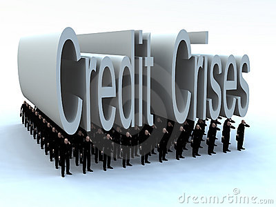 Businessmen Under The Credit Crises