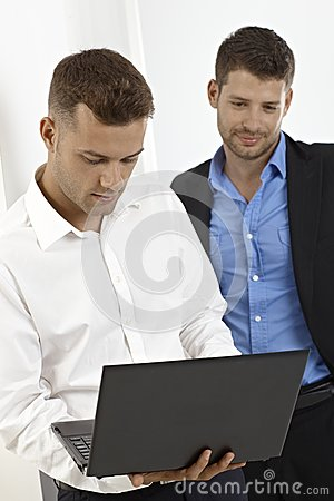 Businessmen working