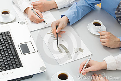 Businesspeople�s Hands Royalty Free Stock Photography - Image: 14378887